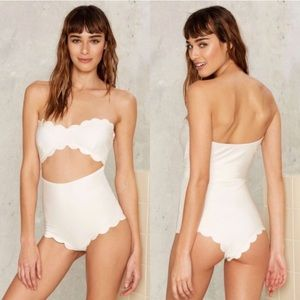 Lolli Swim Scalloped One Piece Bathing Suit